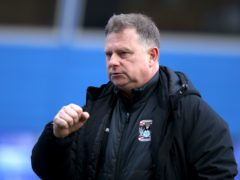 Manager Mark Robins insists Coventry are not safe yet (Bradley Collyer/PA)