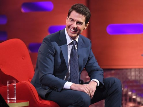 Tom Cruise during filming for the Graham Norton Show (Matt Crossick/PA)