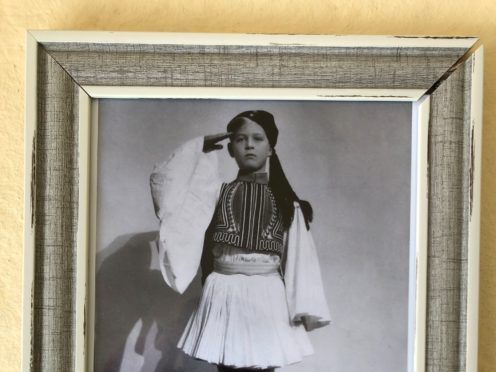 The framed photograph of the Duke of Edinburgh as a child dressed as an Evzone (PA)