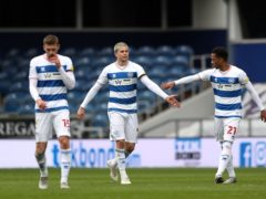 Lyndon Dykes (second left) celebrates scoring QPR's first goal against Sheffield Wednesday (Kieran Cleeves/PA)