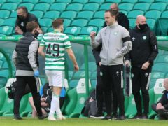 James Forrest, centre left, has recovered from a minor setback (Jeff Holmes/PA)