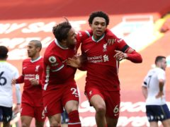 Trent Alexander-Arnold won it for Liverpool late on (Clive Brunskill/PA)