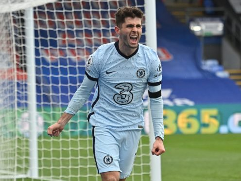 Christian Pulisic struck a brace in Chelsea's 4-1 win at Crystal Palace (Justin Tallis/PA)