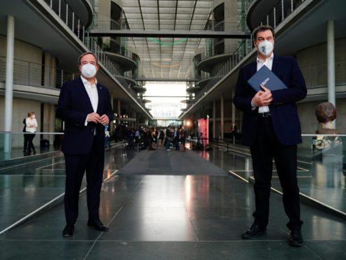 Armin Laschet and Markus Soeder (dpa/AP)