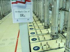 Centrifuge machines in the Natanz uranium enrichment facility in central Iran (Atomic Energy Organisation of Iran via AP)