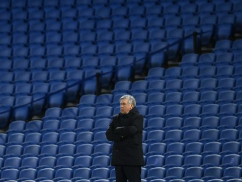 """Everton manager Carlo Ancelotti believes football is """"another sport"""" without fans (Mike Hewitt/PA)"""