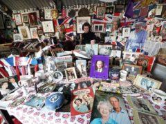Anita Atkinson with her collection (Owen Humphreys/PA)