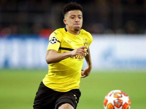 Jadon Sancho will miss Borussia Dortmund's Champions League tie against Manchester City (Adam Davy/PA)