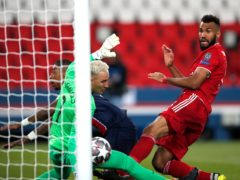 Bayern won on the night through a goal from Eric Maxim Choupo-Moting (right), but it was not enough (Francois Mori/AP/Press Association Images)