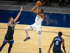 Brooklyn Nets forward Kevin Durant was in top form against the Minnesota Timberwolves (Craig Lassig/AP)