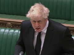 Boris Johnson speaks during Prime Minister's Questions (House of Commons/PA)