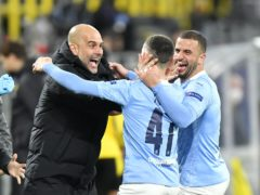 Manchester City continue their Champions League quest against Paris St Germain (PA Wire via DPA/PA)