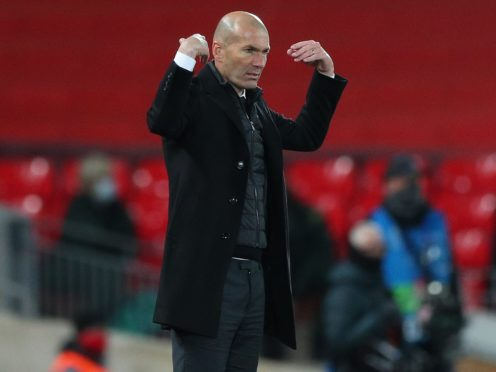 Zinedine Zidane, pictured, insists Florentino Perez knows he has his support at Real Madrid (Peter Byrne/PA)