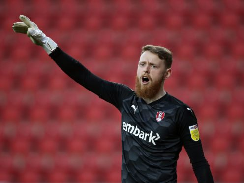 Rotherham goalkeeper Viktor Johansson is going through concussion protocols (Tim Goode/PA)