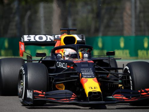 Max Verstappen broke down in second practice in Imola (Luca Bruno/AP)
