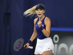 Katie Boulter clenches her fist during her victory over Marcela Zacarias (Naomi Baker/PA)