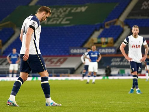 Harry Kane missed training on Friday, 48 hours before the Carabao Cup final (Jon Super/PA)