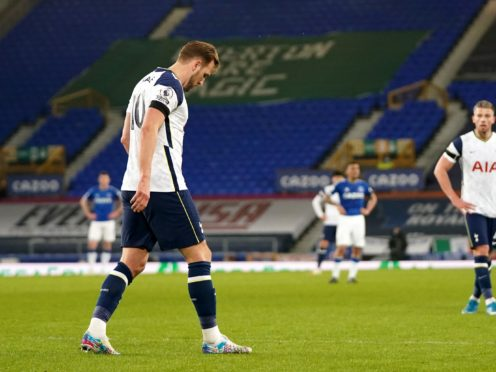 Harry Kane suffered more ankle woe as he limped off against Everton (Jon Super/PA)