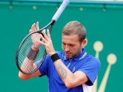 Dan Evans was unable to trouble Stefanos Tsitsipas (Jean-Francois Badias/AP)