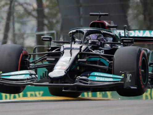 Lewis Hamilton topped the timesheets (Luca Bruno/AP)