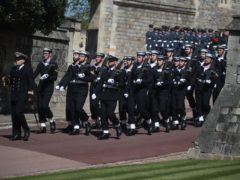 Members of the Royal Navy at Windsor Castle (Steve Parsons/PA Wire)