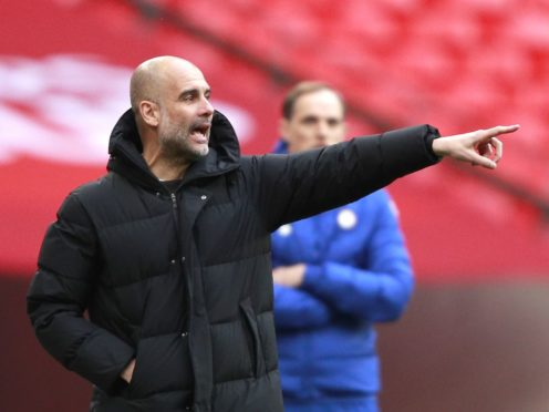 Manchester City manager Pep Guardiola appears uncomfortable with some of the concepts behind the European Super League (Ian Walton/PA)