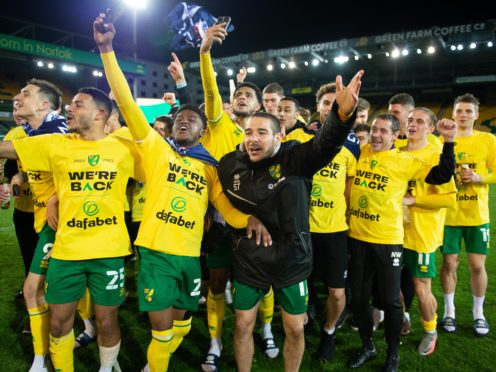 Norwich celebrated promotion back to the Premier League (Matthew Usher/Norwich)