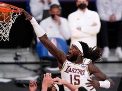 The Los Angeles Lakers defeated the league-leading Utah Jazz 127-115 (Mark J Terrill/AP)