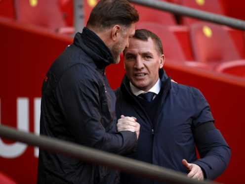 Southampton manager Ralph Hasenhuttl, left, is preparing to face Brendan Rodgers' Leicester (John Sibley/PA)