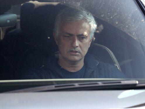 Jose Mourinho leaves Tottenham's training ground (Jonathan Brady/PA)