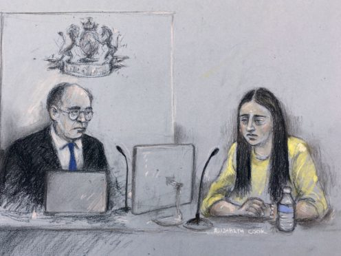 Stephanie Szczotco in the Guildhall in London giving evidence during the inquest into the terror attack at the Fishmongers' Hall (Elizabeth Cook/PA)