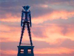 The centre piece of the annual Burning Man festival (Debra Reid/AP)