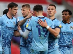 Coventry secured a thrilling win at Stoke (Bradley Collyer/PA)