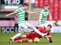 Celtic's Ryan Christie (left) is nearing the end of his contract (Jane Barlow/PA)