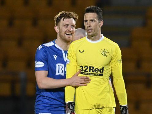 Liam Craig, left, scored a last-gasp goal against Rangers (Rob Casey/PA)