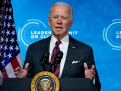 Joe Biden has said this is the 'decisive decade' to curb dangerous global warming (AP Photo/Evan Vucci)