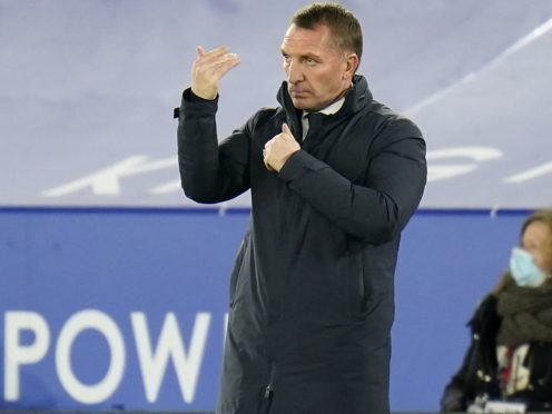 Leicester manager Brendan Rodgers has remained quiet about the Champions League. (Tim Keeton/PA)
