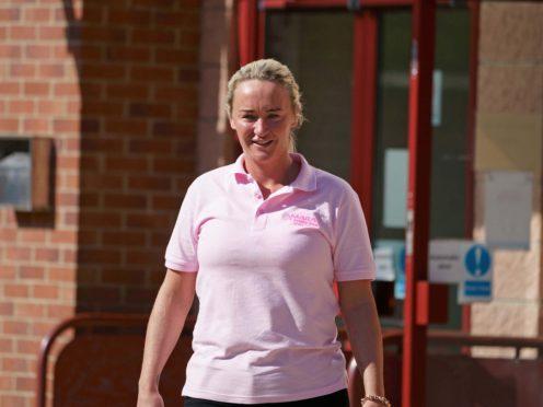 Vicki Hutchinson arrives at Peterlee Magistrates' Court, County Durham (Owen Humphreys/PA)