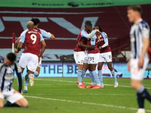 Aston Villa's Keinan Davis celebrates his late leveller against West Brom (Mike Egerton/PA)