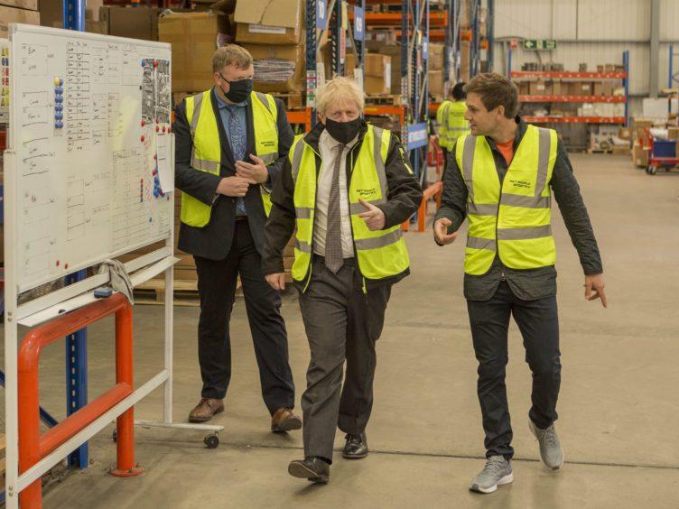 Boris Johnson in Wrexham (Robin Formstone/Daily Telegraph/PA)