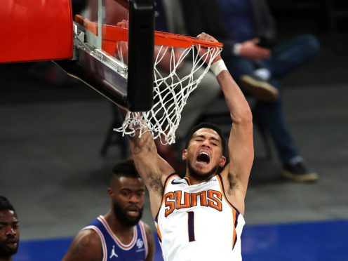 Devin Booker helped the Suns get back to winning ways (Elsa/Pool/AP)