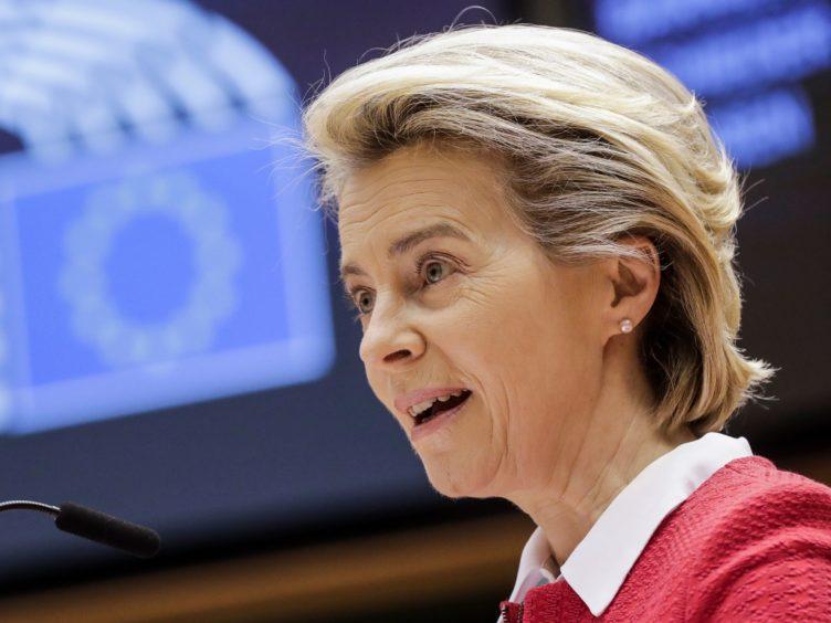 European Commission president Ursula von der Leyen (Olivier Hoslet, Pool via AP)