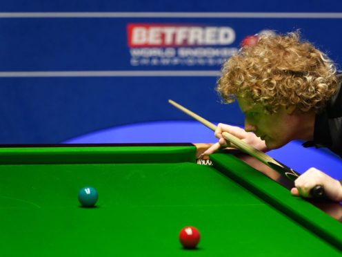 Neil Robertson claimed a 5-3 lead over Kyren Wilson in their quarter-final of the Betfred World Snooker Championship (Zac Goodwin/PA)
