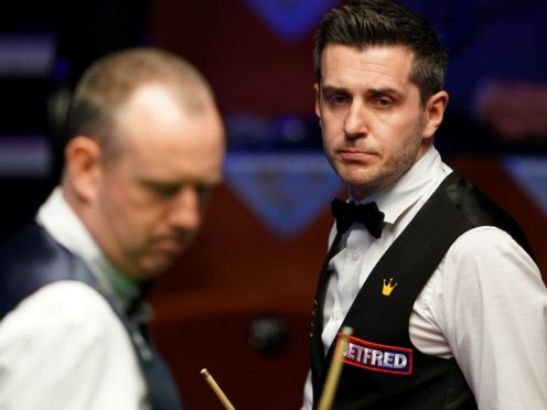Mark Selby, right, holds a healthy lead over Mark Williams (Zac Goodwin/PA)