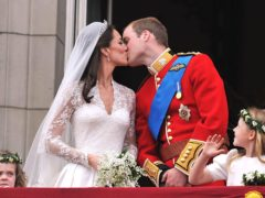 William and Kate on their wedding day (John Stillwell/PA)