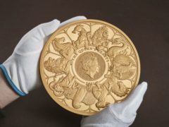 The Royal Mint has produced the largest coin in its 1,100-year history to celebrate the conclusion of its Queen's Beasts commemorative collection (Royal Mint/PA)