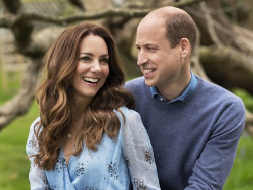 The Duke and Duchess of Cambridge at Kensington Palace to mark their 10th wedding anniversary (Chris Floyd/Camera Press/PA)