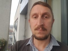 Stephen Squires a leaseholder at Britton House, a tower block in Manchester (PA)