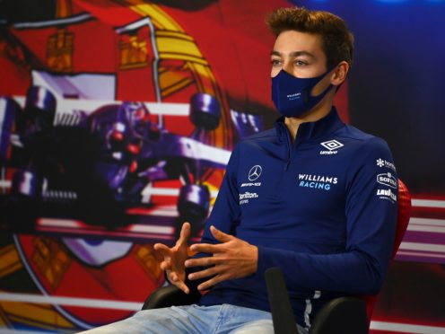George Russell has spoken extensively with Mercedes boss Toto Wolff following his collision with Valtteri Bottas (Gabriel Buoys/Pool via AP)