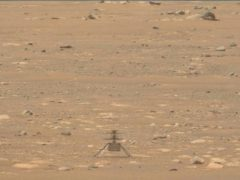 The Mars Ingenuity helicopter on the surface of the planet (NASA/JPL-Caltech/ASU/MSSS via AP)